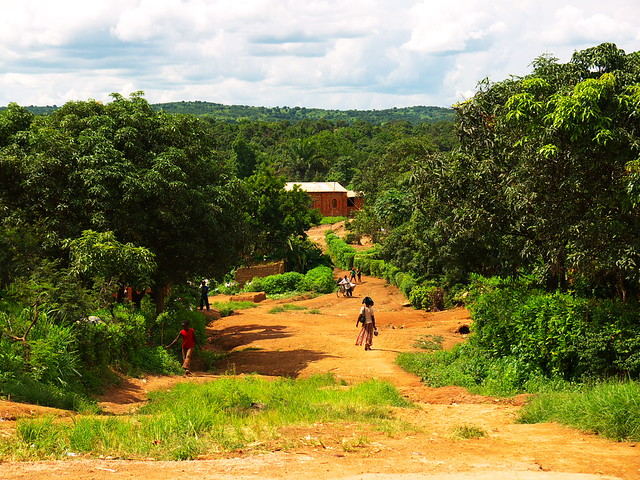Road leading out of Likasi town