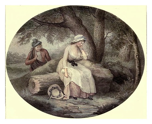 013-La joven de Livingstone 1785- George Morland-Old English colour prints 1909-Charles Holme
