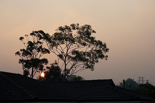 Smoky sunset