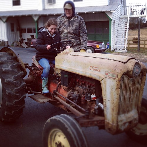 first tractor driving lessons