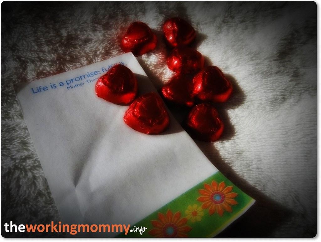 notepad and chocolates