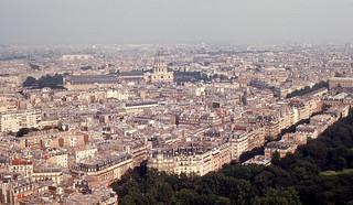 Paris - ESE from Eiffel Tower (1968)