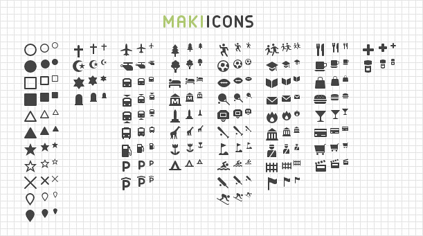 Introducing Maki 2 0: Clean Open Source Map Icons | Mapbox