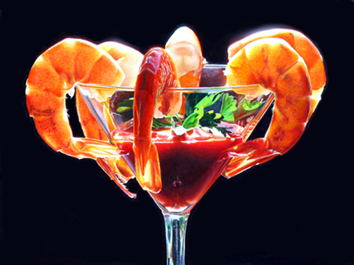Big Shrimp Cocktail by Mary Ellen Johnson