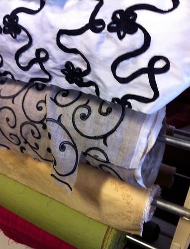 Curtain Fabric at World's Away, Memphis, Tenn.