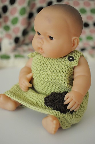 green knit dress