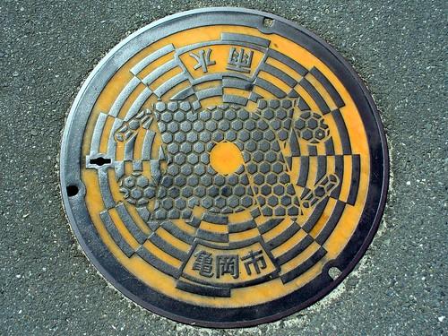 Kameoka Kyoto manhole cover (京都府亀岡市のマンホール)