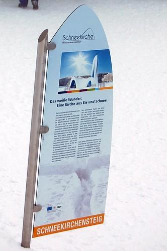 SchneeKirche entrance signage