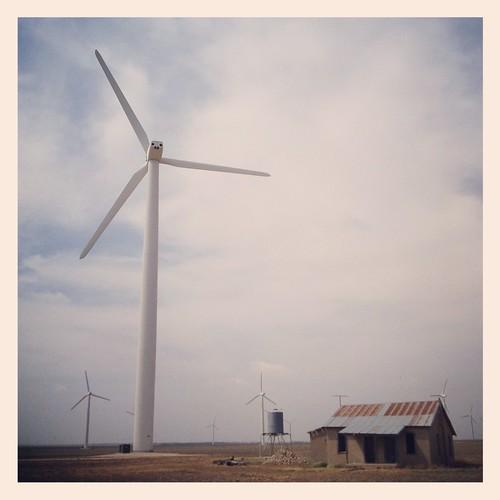 house west abandoned landscape energy texas wind farm windmills