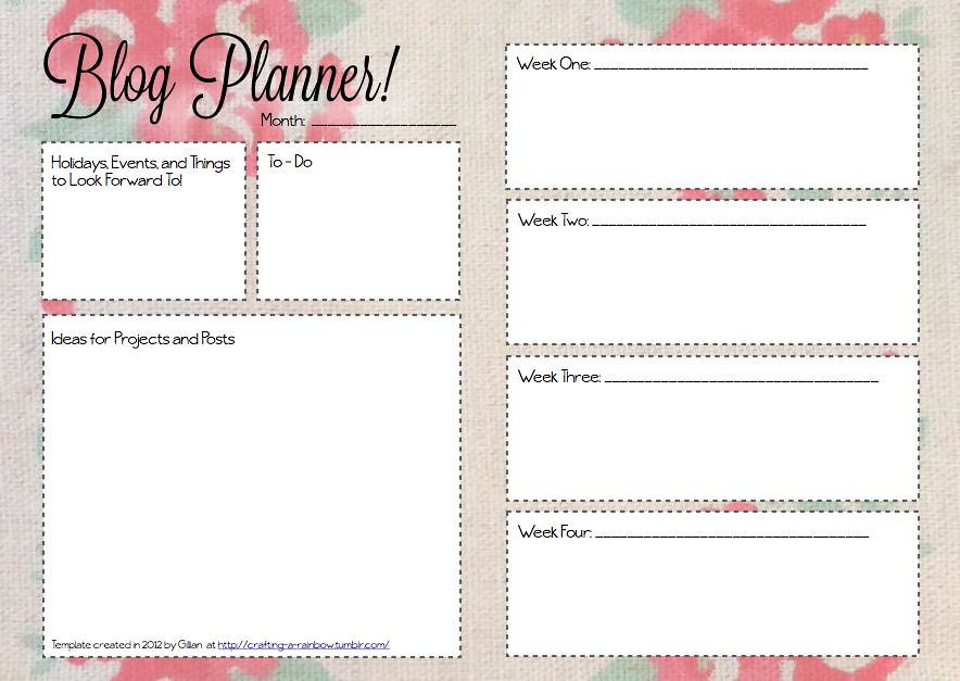 picture relating to Blog Planner Template named Month to month weblog planner floral Month to month blog site planner template