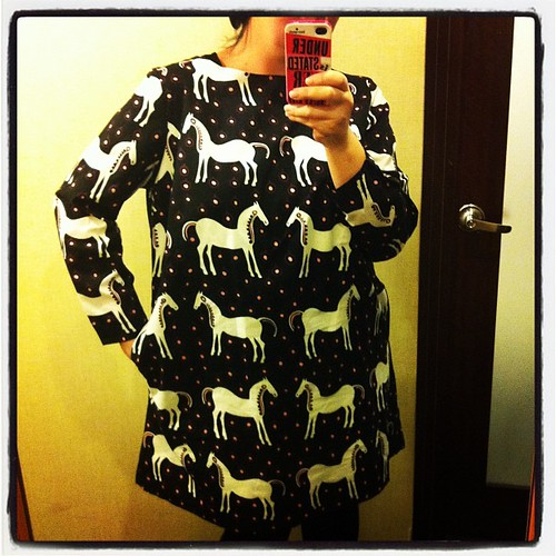 And my horsey #marimekko dress without crazy black light!