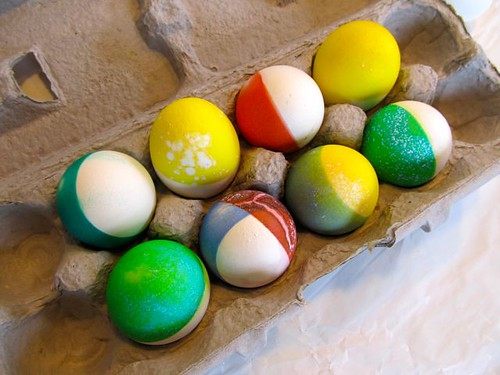 Dip-dyed eggs attempt pic 2