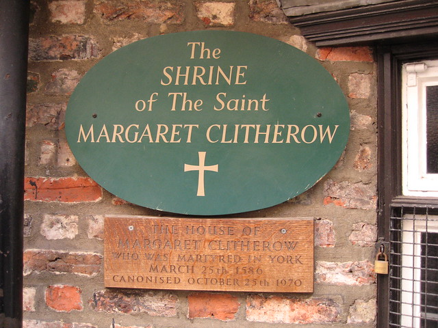 The house of Margaret Clitherow who was martyred in York March 25th 1586 canonised October 25th 1970.