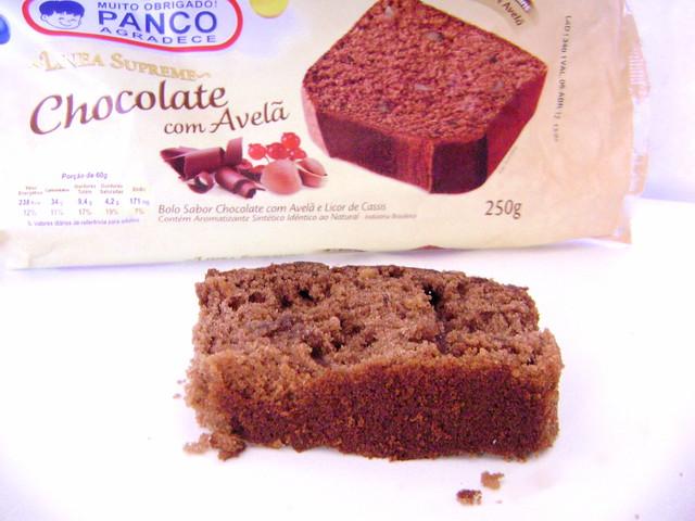 bolo de chocolate com avelã Panco