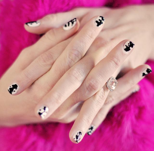 Rorschach inkblot  nails  manicure