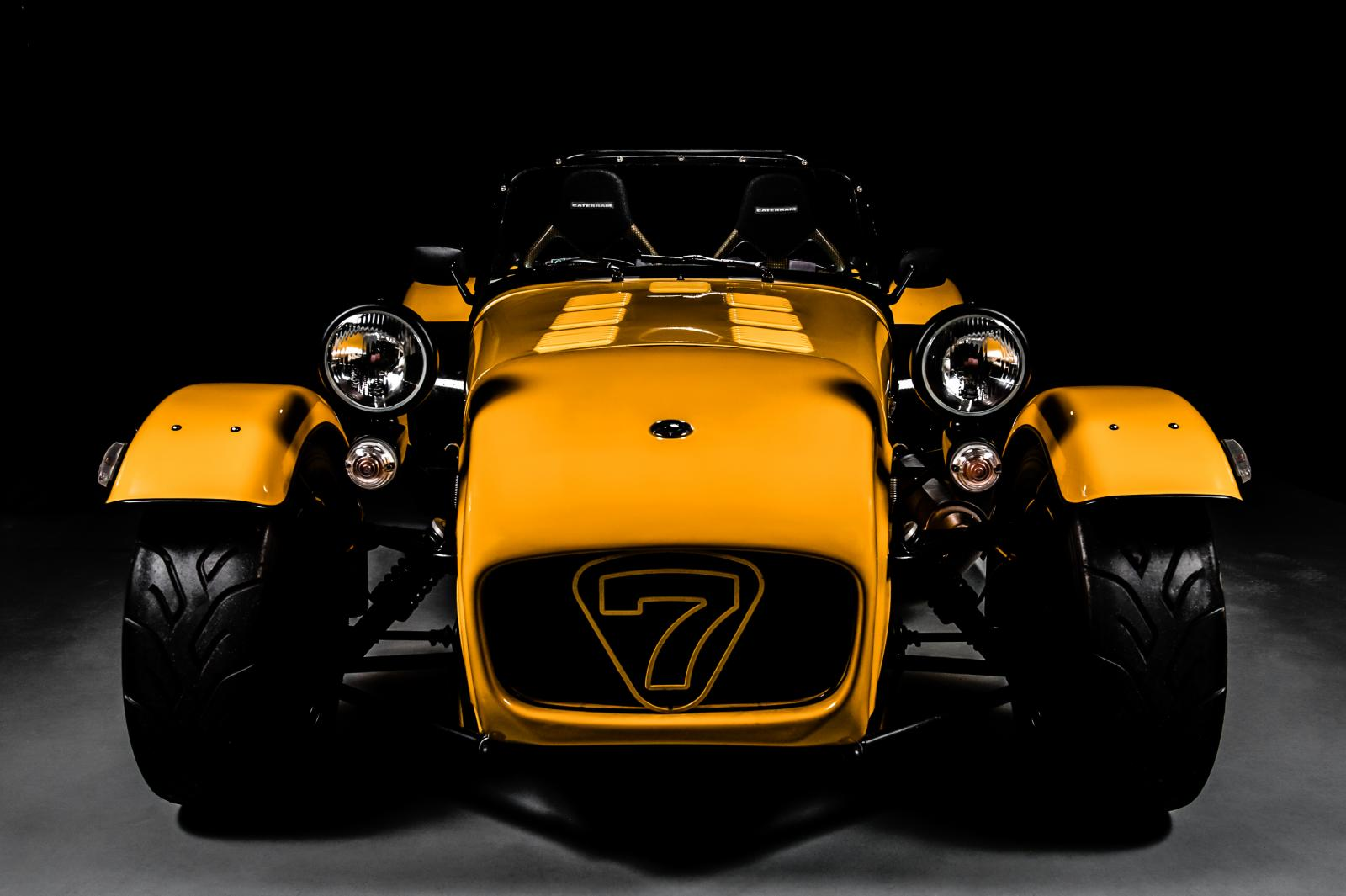 yellow caterham super 7 studio shoot flickr photo sharing. Black Bedroom Furniture Sets. Home Design Ideas