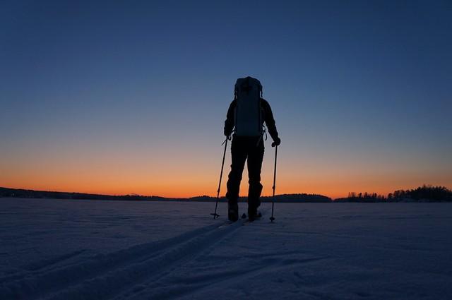 Off towards where the sun set