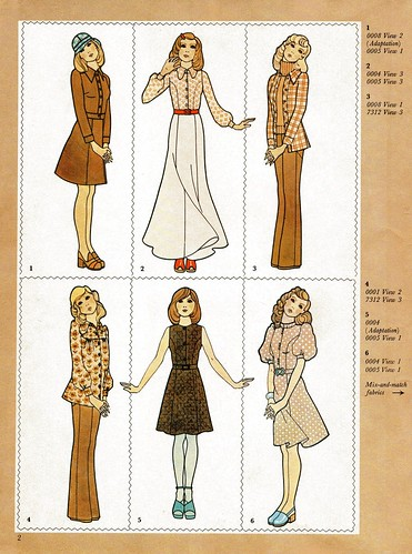 vintage sewing pattern illustrations