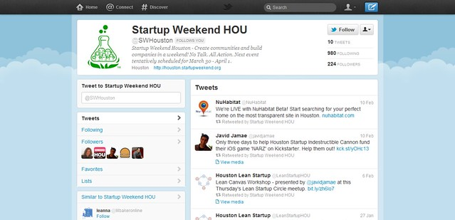 Startup Weekend HOU (swhouston) on Twitter_20120224