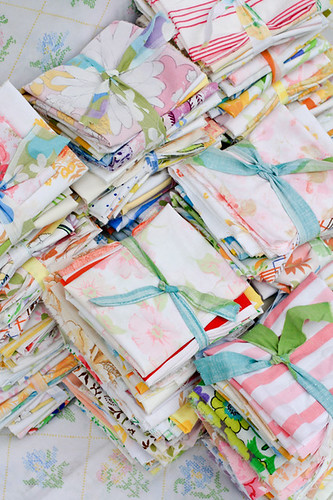 Vintage Sheet Rainbow Scraps by jenib320