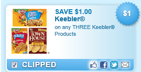 Save $1.00 On Any Three Keebler Products Coupon