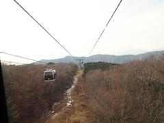 Ropeway ride down to the lake