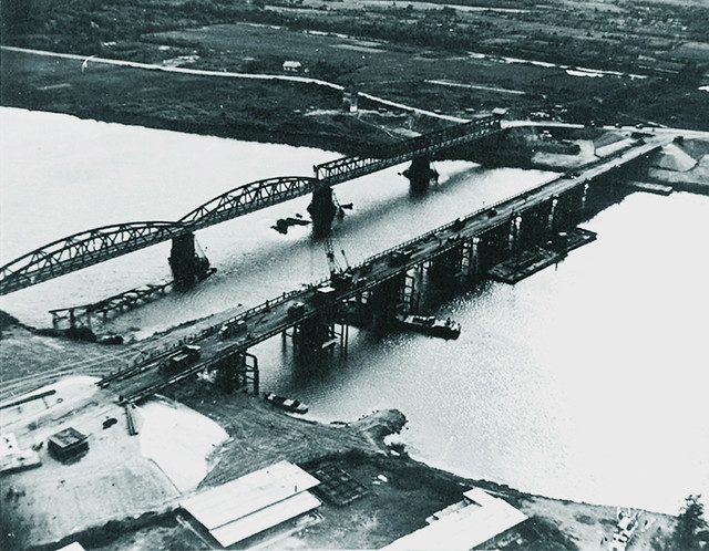 cau QT Thach Han River Bridge at Quang Tri-Built by MCB-10, 1970