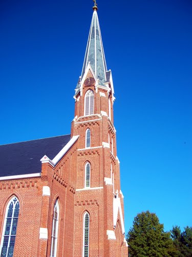 St. Joseph's Catholic Church, Ridgway, Illinois, before tornado