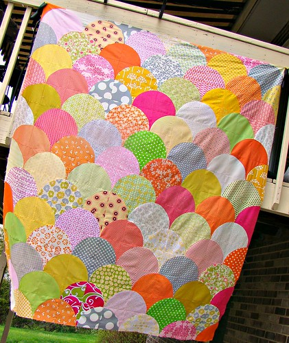 scallop quilt top