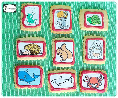 galletas con las mascotas de clase by Acaramelada