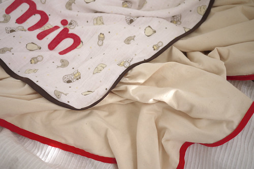 Muslin blanket both sides