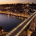 ** Oporto, Ribeira & D. Luis bridge by night **