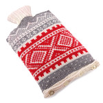 Nordic ski sweater hot water bottle cover