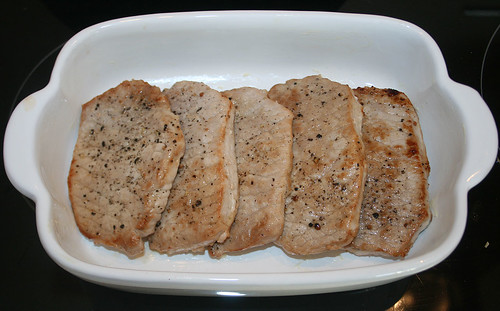 15 - Lende in Auflaufform schichten / Put loins in casserole
