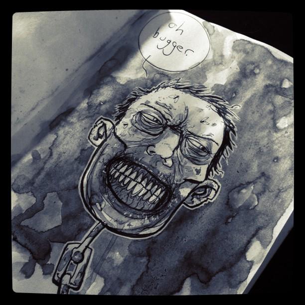Daily sketch: The zombie ex boyfriend.