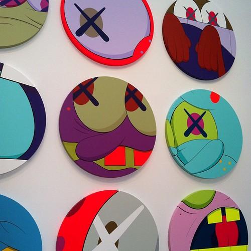 KAWS circle paintings.