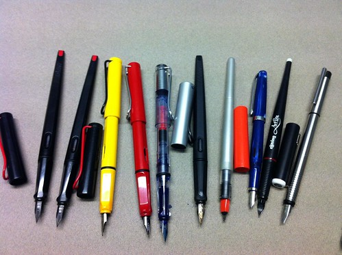 Current ink pen collection by borromini bear