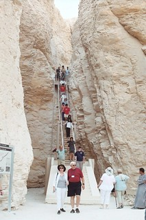Exciting a tomb in the Valley of the Kings