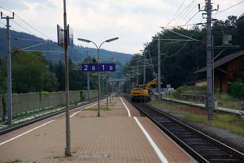 Baustelle, Bahnhof Pörtschach