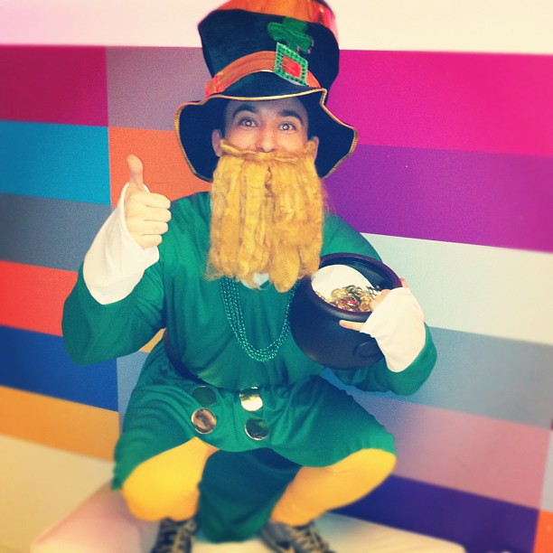 Our office leprechaun #officeantics
