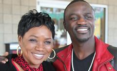 Akon and mom