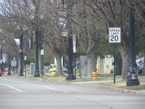 20 mph speed limit sign, Salt Lake City