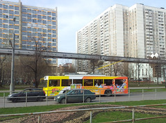 Trolleybus sur la route entre Vladykino et Sokol'niki