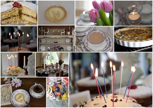 Birthday tea at home ....