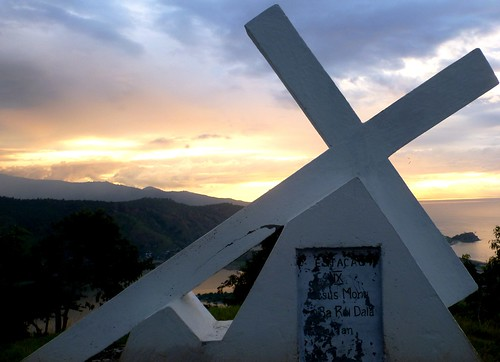 A cross above Dili, Timor Leste