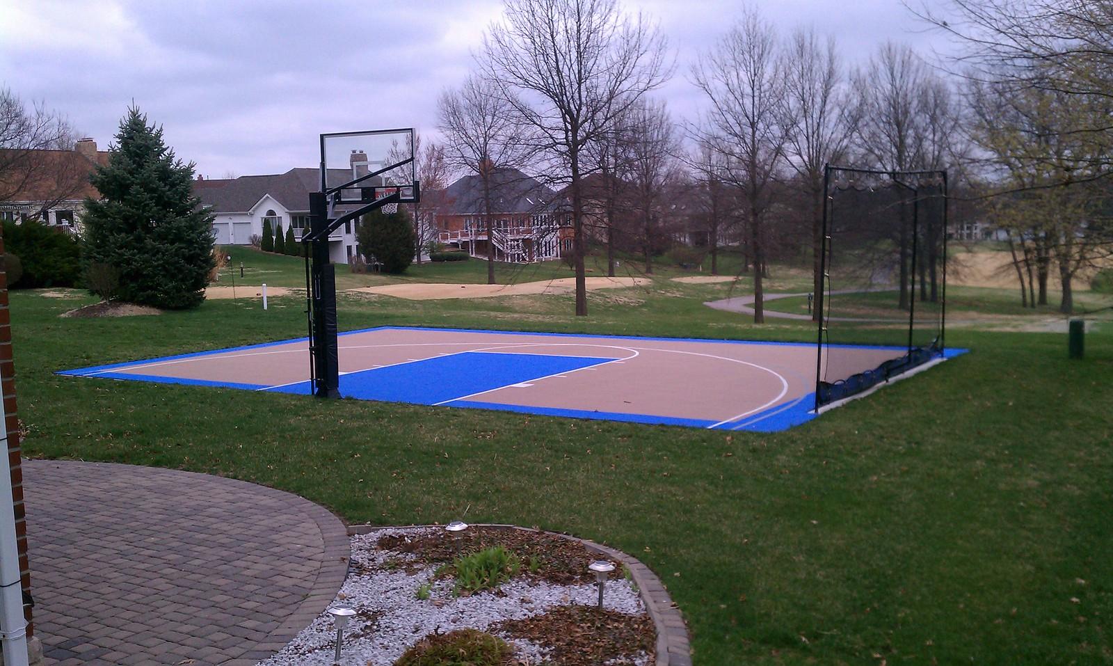 Backyard basketball half court dimensions 2017 2018 for Home basketball court size