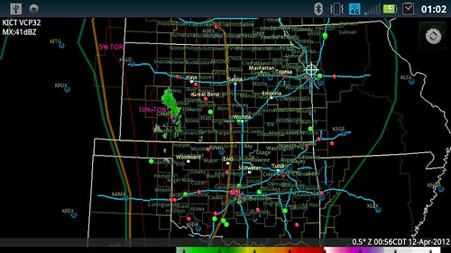 10 Percent tornado risk, western Kansas 4-12-12 by studestevo