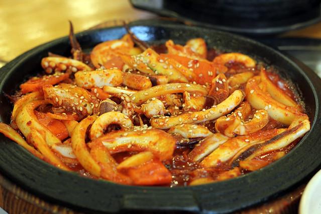 Spicy Stir Fried Octopus (Nakji Bokkeum ????)