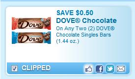 Dove Chocolate Singles Bars (1.44 Oz.) Coupon