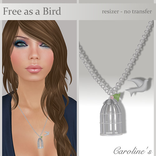 Caroline's Jewelry Free as a Bird in Silver